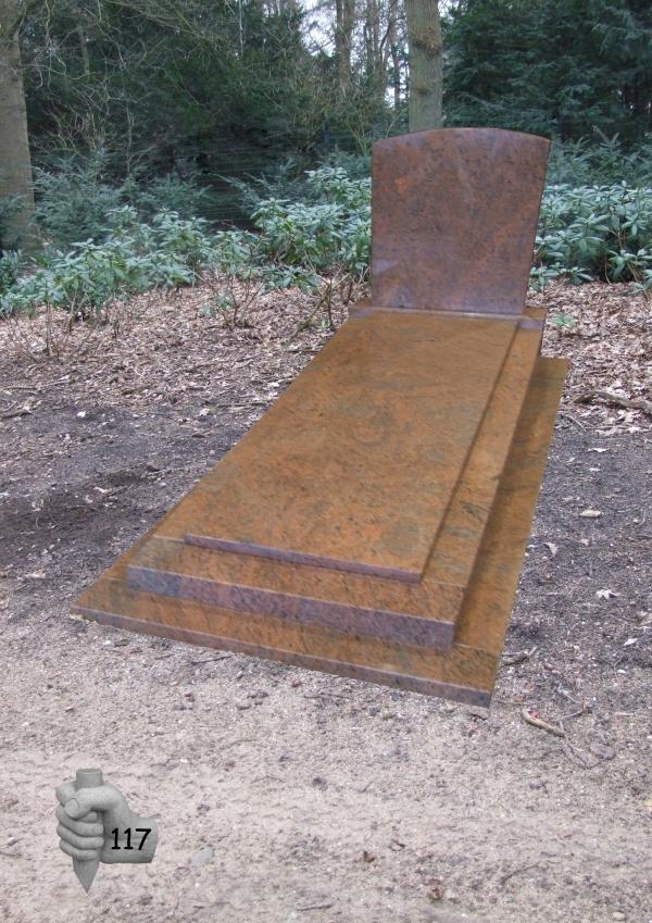 Grafmonument van der Velde Natuursteen -model 117